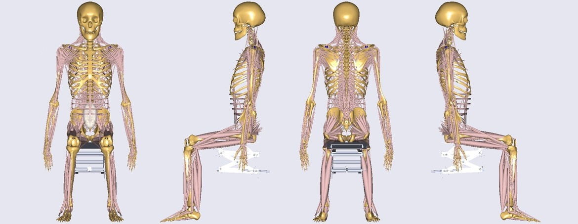 SolidWorks model of sitting device